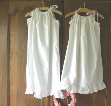 SHABBY CHIC PILLOW CASE DRESS - Where the Fairy Tale begins - Custom Embroidery