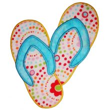 Flip Flop Applique - Where the Fairy Tale begins - Custom ...