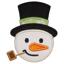 Snowman Head Applique - Where the Fairy Tale begins - Custom ...