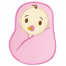 Swaddle Baby Applique Where The Fairy Tale Begins