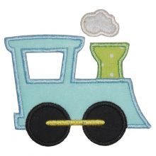 Train Applique Where The Fairy Tale Begins Custom Embroidery