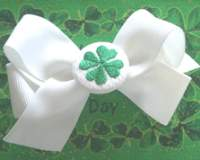 St PATRICK HAIRBOW LARGE